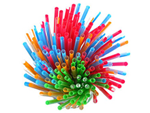 Poly Cocktail Stirrers & Drinking Straws